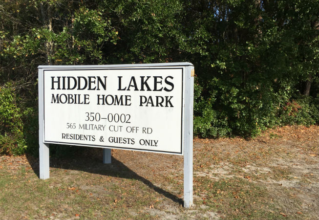 A Real Estate Development And Management Firm Bought More Than 30 Acres On Military Cutoff Road That Includes The Hidden Lakes Mobile Home Park