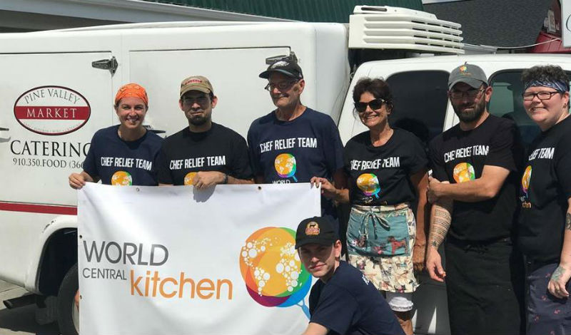 pine valley market served as a satellite kitchen for world central kitchen which has been providing meals to the area since before hurricane florence made - World Central Kitchen